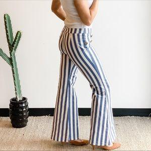 Pants - STRIPE FLARE PANTS